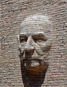Street Art - Stone Carving-by Emmanuel Augier in Levans, France 3d Street Art, Street Art Graffiti, Graffiti Artists, Wall Street, Stone Sculpture, Sculpture Art, Sand Sculptures, Sculpture Ideas, Abstract Sculpture