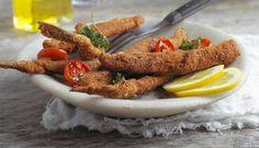 Fritert matjessild med ovnsbakte cherrytomater - Godfisk