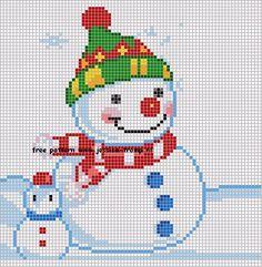 Snowman cross stitch.