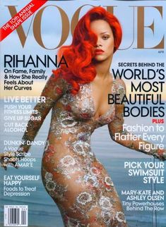Rihanna Vogue April 2011 is Sizzling Hot in a Fiery Spread #Rihanna #Celebrity