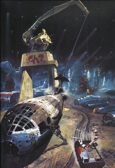 "Chris Foss ""Galactic Scrapyard"" Science Fiction Art 1975"