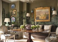 Cathy Kincaid and John B. Murray Architect - NY apartment Zuber wallpaper