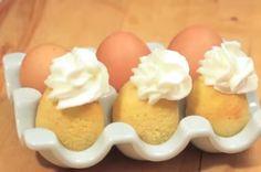Video: Veľkonočný koláčik upečený v škrupinke - Dobruchut. New Egg, Egg Shells, Cake Batter, Baking Tips, Holiday Fun, Cake Recipes, Pudding, Cooking Recipes, Cupcakes