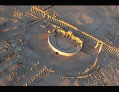 Islamic State seized full control of the historic city of Palmyra in central Syria. there are fears it might now devastate Palmyra, an ancient World Heritage site and home to renowned Roman-era ruins including well-preserved theatre pictured Roman Era, Palmyra, Syria, World Heritage Sites, Airplane View, Islamic, Theatre, Cities, Chill