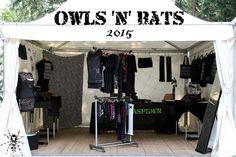 Zebraspider Stand auf dem Owls 'n' Bats Festival 2015