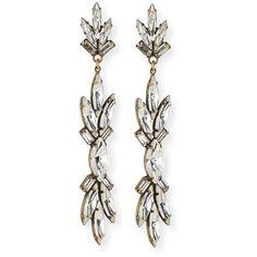 Auden Emma Crystal Drop Earrings ($368) ❤ liked on Polyvore featuring jewelry, earrings, brass, baguette earrings, drop earrings, swarovski crystal earrings, earring jewelry and swarovski crystal jewelry