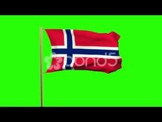 Norway Flag Waving In The Wind. Looping Sun Rises Style. Animation Loop. Green - http://quick.pw/1g8l #travel #tour #resort #holiday #travelfoodfair #vacation