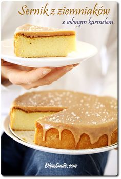 Cheesecake With Potatoes Sernik z ziemniaków Vegan Cheesecake, Vegan Cake, Cheesecake Recipes, Pear Recipes, Raw Food Recipes, Pear And Chocolate Cake, Good Food, Yummy Food, Piece Of Cakes