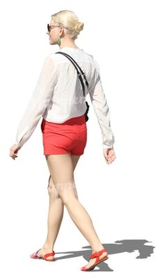 woman in a mini skirt walking