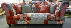 Chesterfield Sofa in Patchwork Rost. www.kippax-sofas.de