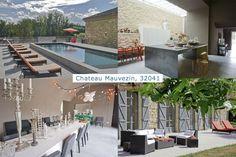 Chateau Mauvezin, #vacationrental sleeps 12 in SW France. Heated pool, cinema, 6 ensuite bedrooms. #France www.purefrance.com