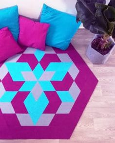 WATER LILY SET handmad modular rug carpet with recycled materials, DIY, by caraWonga Rugs On Carpet, Carpets, Recycled Materials, Contemporary, Modern, 3 D, Recycling, Lily, Flooring