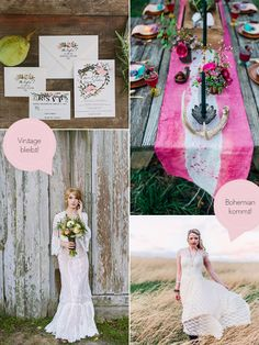 Hochzeitstrends Vintage bohemian - so lovely