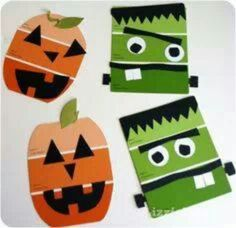 Fall craft, these would be cute to then laminate and turn into magnets Kids Crafts, Easy Fall Crafts, Family Crafts, Halloween Crafts For Kids, Halloween Activities, Preschool Crafts, Holiday Crafts, Party Crafts, Preschool Halloween