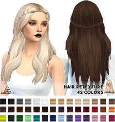 Miss Paraply: Kiara24 Sensitive hairstyle retextured  - Sims 4 Hairs - http://sims4hairs.com/miss-paraply-kiara24-sensitive-hairstyle-retextured/ #longhairstyles