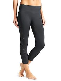 Power Through Mesh Capri - The capri thats all about the perfect fit plus ventilation right where you need it thanks to its seamless design and perforated paneling.