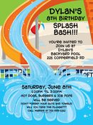 Personalized Invitations for Party and Shower Back To School Party, School Parties, Swimming Pool Slides, Swimming Pools, Water Party Invitations, Invitation Cards, Birthday Invitations, Invites, Summer Pool Party