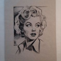 Jason Minauro - lovely portrait drawing of Marilyn