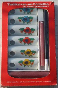 Tischkartenhalter funny design 70er