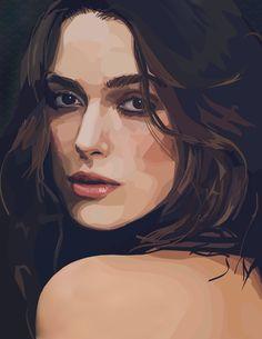Keira Knightley Vector Portrait by Christina Scamporrino, via Behance