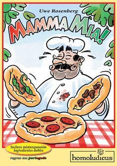 ¡Conviértete en un maestro pizzero!  Coloca ingredientes sobre la mesa y si algún jugador se atreve, colocará un pedido. Si los ingredientes para el pedido están disponibles el pedido se servirá, si no están todos... ¡Mala suerte! Necesitarás un poquitín de táctica, una pizca de suerte, algo de memoria y muchas ganas de divertirte para jugar a Mamma Mia!