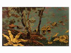 Tran Van Ha (b. 1911), Riverside, Lacquer Painting1