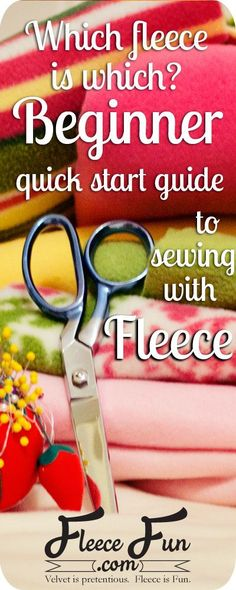 fleece is which? Your quick start guide to fleece. Which fleece is which? Your quick start guide to fleece. by Which fleece is which? Your quick start guide to fleece. Sewing Hacks, Sewing Tutorials, Sewing Crafts, Sewing Tips, Sewing Ideas, Sewing Blogs, Fleece Patterns, Sewing Patterns Free, Clothes Patterns