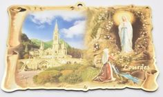 Wall Plaques using Special Gold Foil Techniques and Wall Plaque depicting the Apparitions, Holy Family, the blessed Virgin Mary with Hold Child along with many more. Our Lady Of Lourdes, The Cross Of Christ, Last Supper, Blessed Virgin Mary, Wall Crosses, Wall Plaques, Catholic, Painting, Art