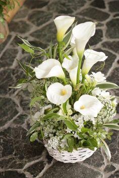 カラー/アレンジ/ホワイト/花どうらく/花屋/hanadouraku/http://www.hanadouraku.com/flower arrengement/