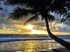 Sunset along the four mile beach