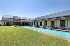 Umthunzi Valley boasts a half Olympic size pool Olympic Size Pool, Luxurious Bedrooms, Luxury Lifestyle, Olympics, Waterfall, Mansions, House Styles, Outdoor Decor, Beautiful