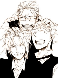 I love this so much! :) Ed and Alphonse Elric and their dad Van Hohenheim