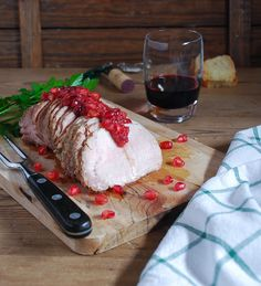 Pork tenderloin with cranberry and pomegranate sauce - Lomo de cerdo con salsa de arandanos y granada