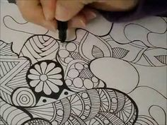 Tangled Doodle Art in Time-Lapse by Heidi Denney zentangle zendoodle sharpie art