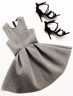 Getting our weekend outfit ready in our Neoprene Flared Dress WWW.SHOPPUBLIK.COM
