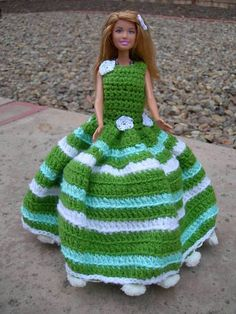 Remember the Barbie toilet paper cover? My nana had one. This is some tacki-liciousness! Plus, skirt is made with glow-in-the-dark yarn.
