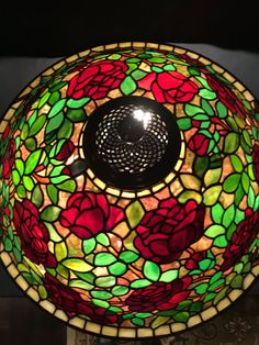 Large Circles Stained Glass Primrose