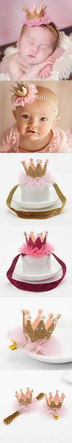 Baby girl flower princess crown headband elastics headbands for newborns hair accessories kids hair head band ornaments hairband