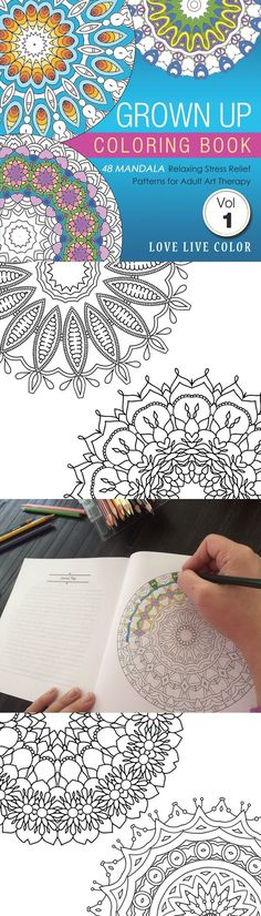 Discover More Calm Creativity Fun And Relaxation In Your Life Just 5 Minutes Per Day With This Coloring Book For Adults From Love Live Color