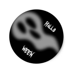 #Ghostly Halloween. Classic Round Sticker - #Halloween happy halloween #festival #party #holiday