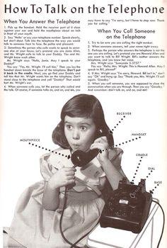 C'era un tempo in cui servivano le istruzioni per usare un telefono..