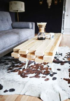 Build your own coffee table. Note: All measurements are in cm