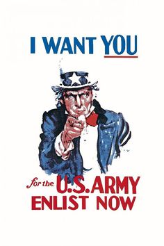 PHOTOWALL / Uncle Sam Enlist Now (e20436) | 輸入壁紙専門店 WALPA