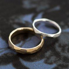 マリッジリング:Cristallo(クリスターロ)たくさんの面にかこまれたデザイン。 [結婚指輪,Gold,platinum,ウエディング,wedding ring]