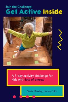 Get 5 days of hands-on physical activities that keep your kids busy and out of trouble - and spend time with your kids connecting and making memories in just a few minutes a day -- delivered to your inbox every day!  #GetActiveInside