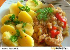 Baked Potato, Cantaloupe, Potato Salad, Pork, Potatoes, Meat, Chicken, Baking, Fruit