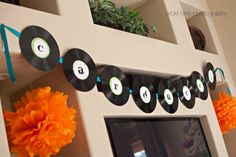 Rock Star Alphabet 4 Party Circles for Banner  by tomkatstudio, $6.50