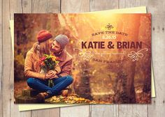 Rustic SaveTheDate Save The Date Postcard  by cardcandydotcom, $15.00.  Our new save the dates!