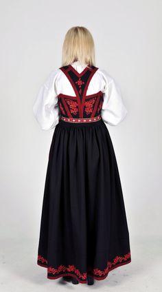 Kvinnebunad fra Vest-Telemark Folklore, Norway, Scandinavian, Cold Shoulder Dress, Tulle, Vest, Skirts, Outfits, Dresses