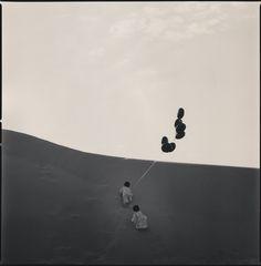 Soma and Yume on the dunes, 2013 - Hiroshi Watanabe